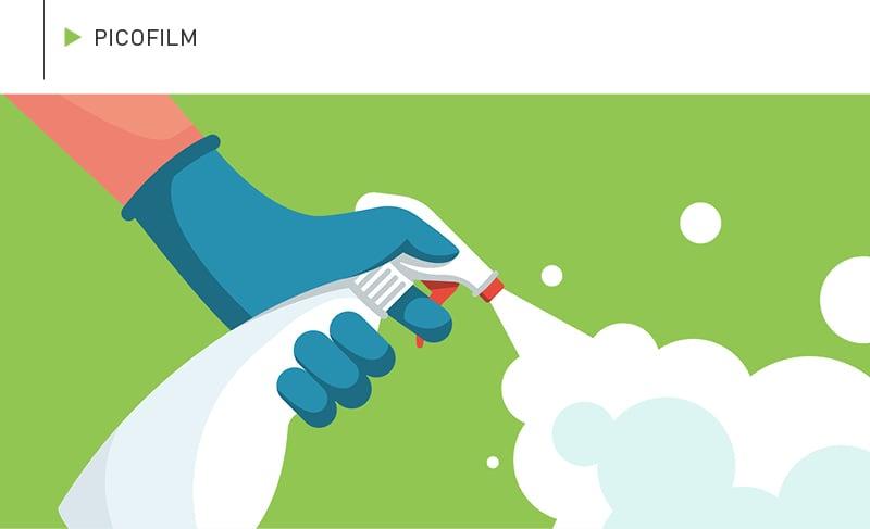 PICOFILM – beständig gegen Desinfektionsmittel